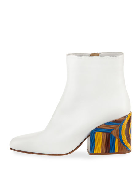 Tito Stripe-Heel Bootie