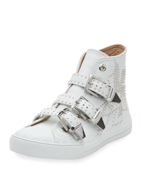 Top Leather High Studded Kyle Sneakers 8nXZwOPkN0