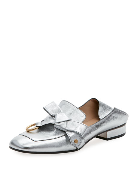 Quincy Metallic Bow Fold-Down Loafer