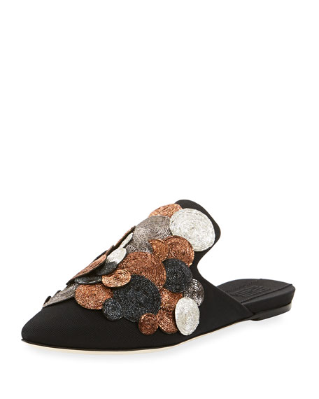 Dorata Flat Embellished Slippers