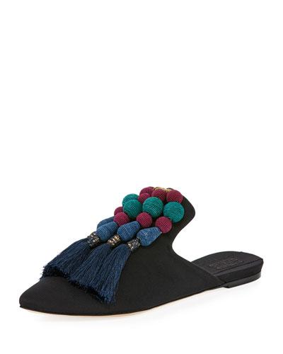 Gabriella Grosgrain Flat Slippers