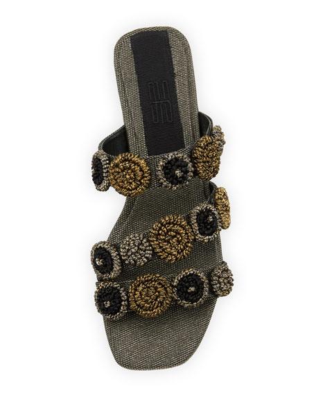 Regina Metallic Embroidered Sandal