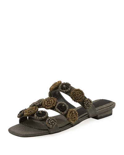Regina Metallic Embroidered Sandal