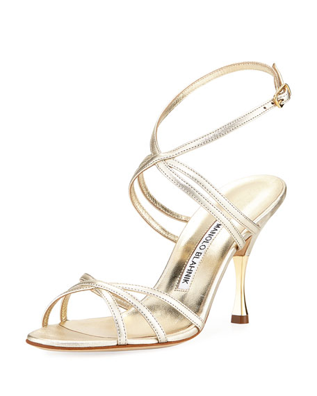 Strappy Naro Naro Metallic Strappy Naro Sandal Metallic Strappy Leather Metallic Leather Sandal Leather ID2H9YWE