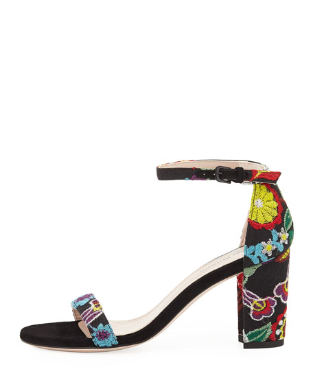 Nearlynude Botanic Embroidered City Sandal