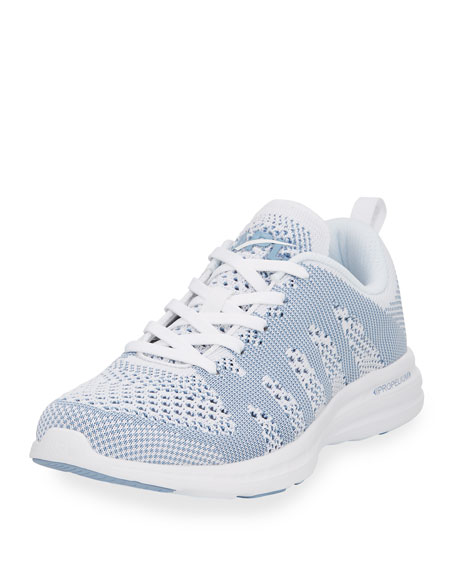 Knit Mesh Lace-Up Sneakers