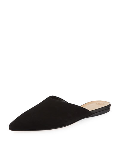 Giacomo Point-Toe Flat Suede Mule