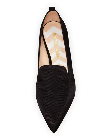 Beya Grosgrain Loafer, Black