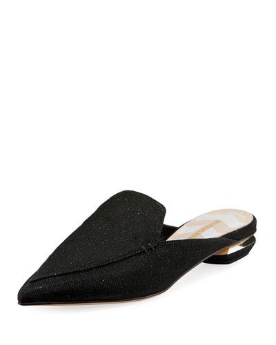 Beya Glitter Grosgrain Loafer Mule