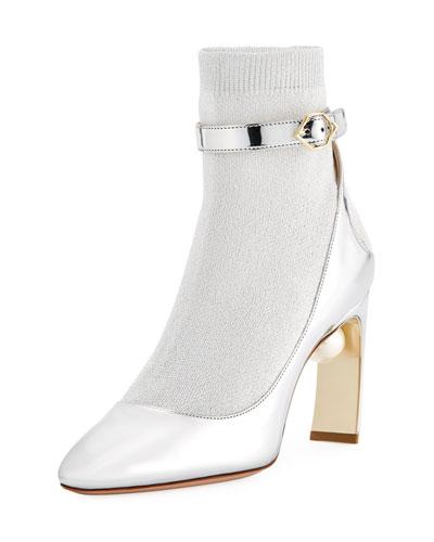 Lola Sock Pump-Illusion Ankle Boot