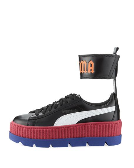 Ankle-Strap Platform Sneaker