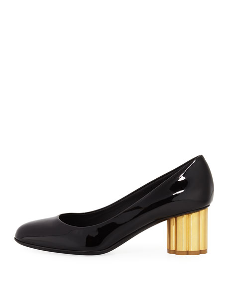 Patent Cylinder-Heel 55mm Pump, Nero