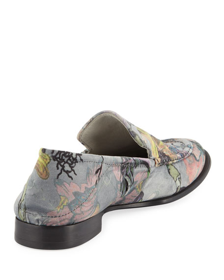 Alix Printed Velvet Loafer