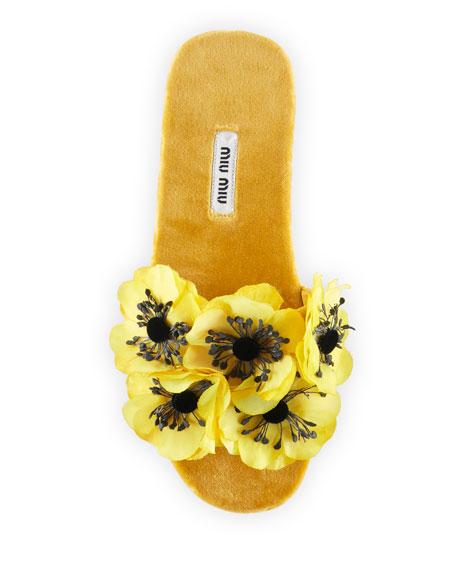 Miu Miu 3D flower slides