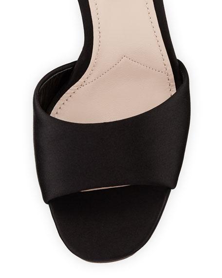 Jeweled Satin Platform Sandal