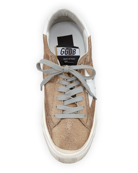 May Metallic Leather Low-Top Sneaker