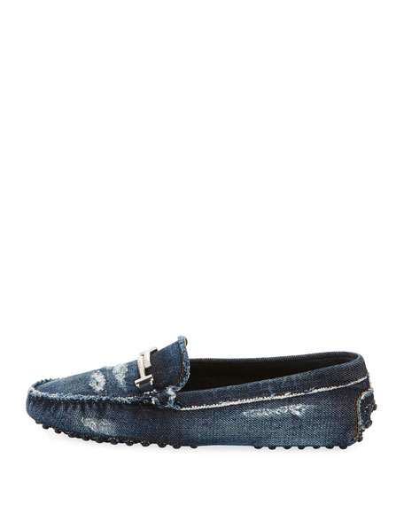 Gommini Distressed Denim Driver