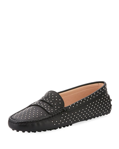 Gommini Studded Leather Loafer
