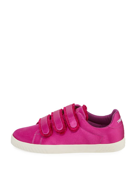 Carry Satin Triple Grip-Strap Low-Top Sneaker