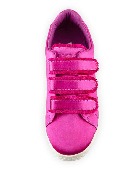 Carry Satin Triple Grip-Strap Low-Top Sneaker