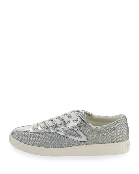 Nylite Plus Metallic Mesh Low-Top Sneaker