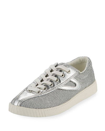 Nylite Plus Metallic Mesh Low-Top Sneaker