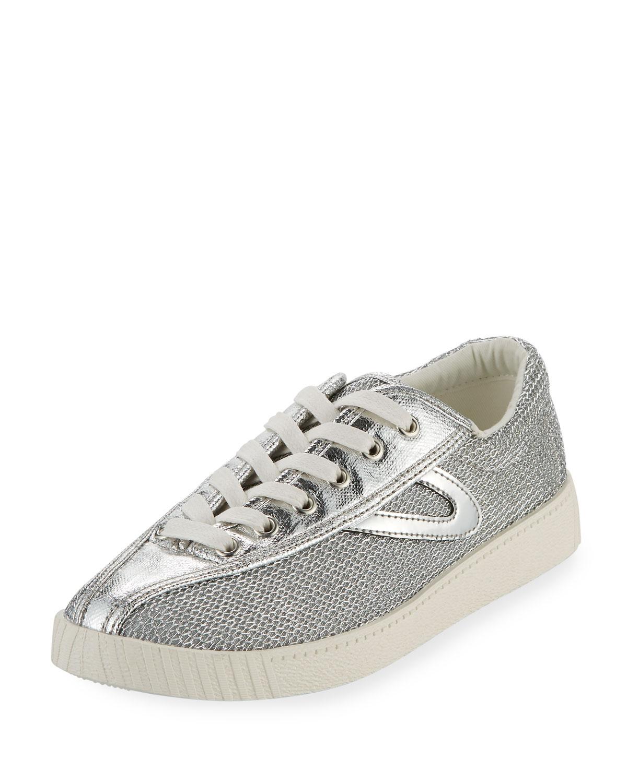 Nylite Plus Metallic Mesh Low Top Sneakers