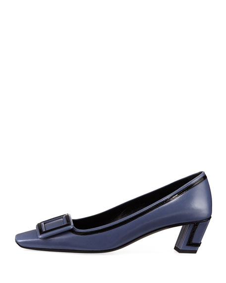 Graphic Belle Buckle Pump