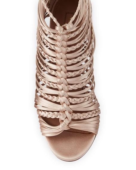 Goddess Strappy Satin Sandal