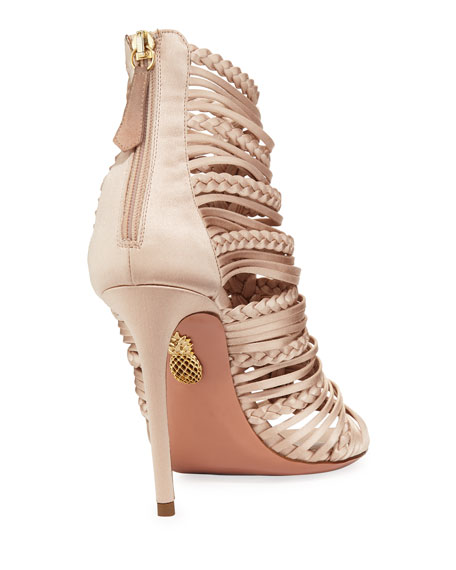Goddess Strappy Satin Sandal