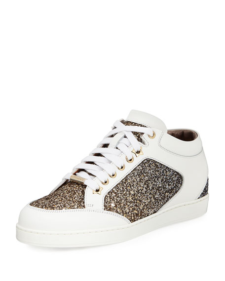 free shipping best store to get clearance discount Jimmy Choo 'Miami' glittered sneakers 6LWbYrq