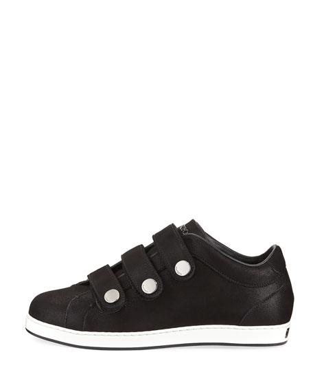 NY Three-Strap Leather Sneaker