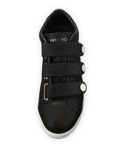 NY Three-Strap Leather Sneakers