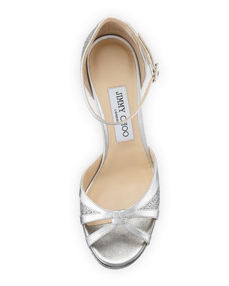 Talia 100mm Metallic Glitter Sandal