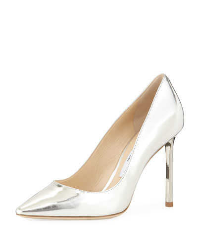 Romy Metallic Leather 100mm Pump