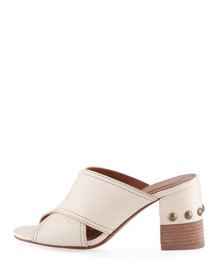 See by Chloe Leather Crisscross Block-Heel Slide Sandal 420fc38a6a