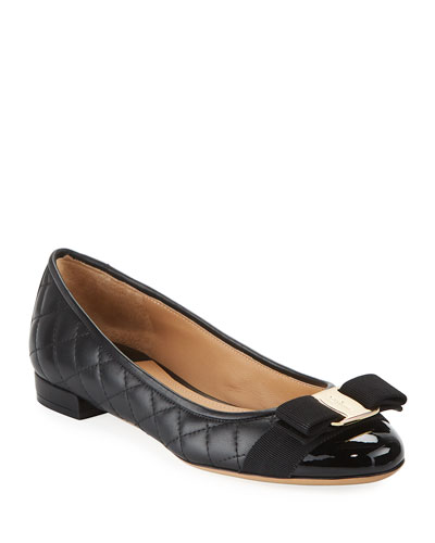 Varinaq Quilted Bow Ballet Flats