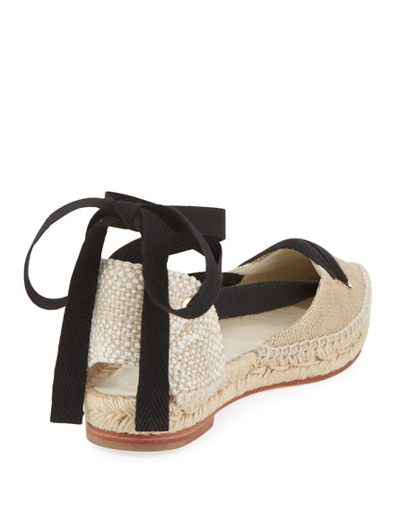 Canvas Ankle-Wrap d'Orsay Espadrille