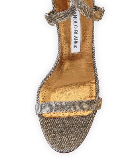Newfi Metallic Fabric Sandal