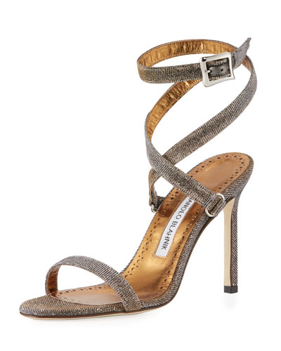 Newfi Metallic Fabric Sandal