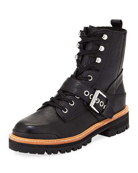 Ida Leather Moto Boot
