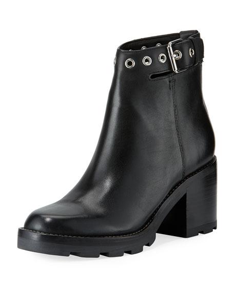 Glove Ankle-Strap Block-Heel Boot