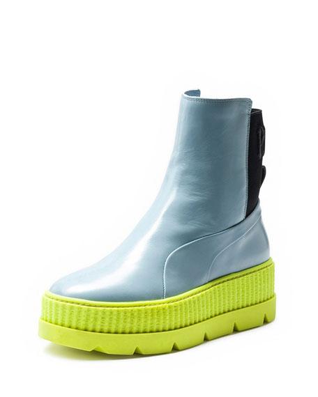 quality design 77c04 10d9b Colorblock Platform Chelsea Sneaker Boot
