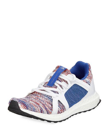 Ultra Boost Knit Trainer Sneaker, Blue/White