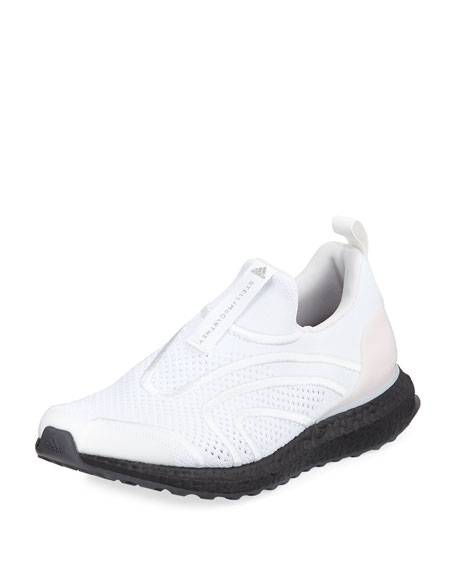 Ultra Boost Uncaged Fabric Sneakers, White/Stone, Chalk White/Stone