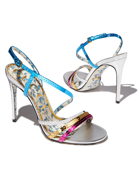 4f5eac6f7643 Gucci 105mm Hainse Sequin Sandal