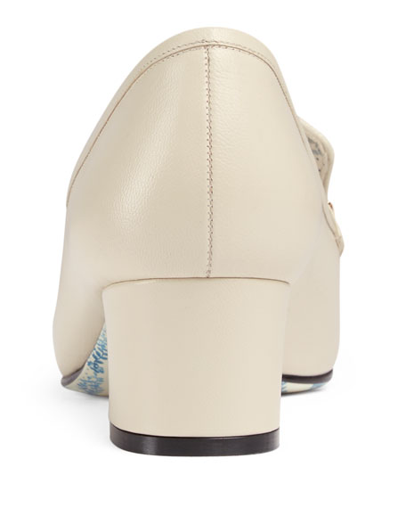 Ginger Tiger-Bit Leather Loafer with Jewels