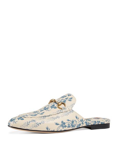 6bf3251608d Gucci princetown rosebud floral printed leather mule in white jpg 456x570 Princetown  floral