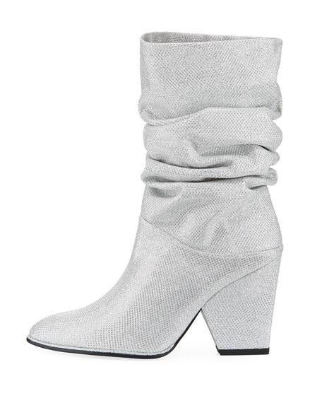 Crush Scrunch Noir Sparkle Ankle Boot