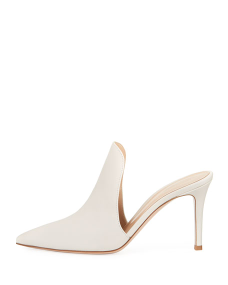 85mm Point-Toe Leather Mule